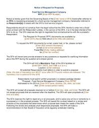 Rfp Letter Of Intent Template by Request For Proposal Template Best Business Template U0027s