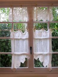 Crochet Kitchen Curtains by 60 Best Crochet Curtains Images On Pinterest Crochet Curtains