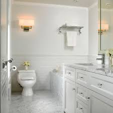 White Marble Bathroom Houzz - Marble bathroom designs