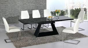 White Glass Extending Dining Table Black Extendable Dining Table Black Extending Dining Table