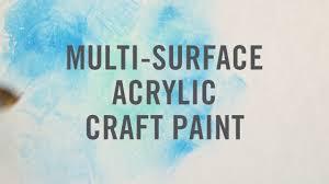 martha stewart multi surface acrylic craft paint youtube