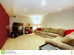 Beige Sofa Living Room by Living Room Interior With Beige Sofa Carpet Floor And Red Wall