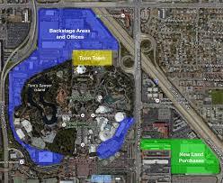 Disney Park Maps Disneyland Land Purchased Across The Street From Park