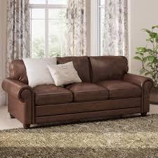 Leather Sofa Small Small Leather Wayfair