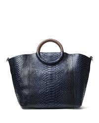 lyst michael kors skorpios market bag in blue