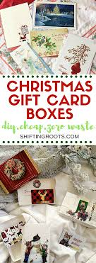 christmas gift card boxes how to make diy christmas gift card boxes shifting roots