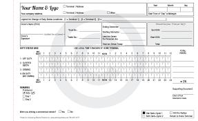Driver Log Sheet Template Receipt Template Template124