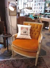 funky vintage orange chair sold paper street market