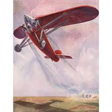 original french vintage airplane print s by geo ham from