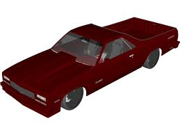 camino browser chevrolet el camino 1984 3d model 3d cad browser