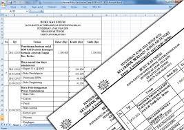 format buku jurnal penerimaan kas format buku kas umum dana bop paud kb kelompok belajar berkas