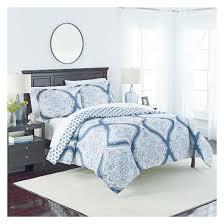 medallion lotus reversible comforter set 3pc marble hill target