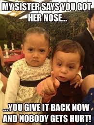 Funny Sister Meme - funny memes brother sister get nose back loldamn com