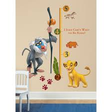 Giant Wall Stickers For Kids Roommates The Lion King Rafiki Peel And Stick Giant Growth Chart
