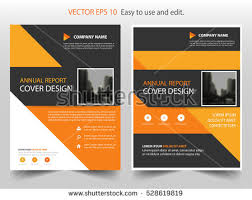portfolio management reporting templates cool annual report black yellow annual report brochure template a4 stock vector 730374070