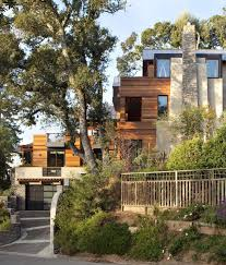 Hillside House Plans With Garage Underneath by Contemporary Hillside House Nestled On The Hills Of Mill Valley