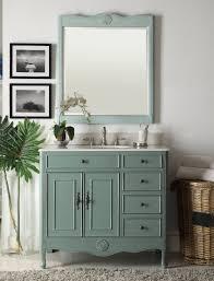 vintage blue daleville bathroom vanity w mirror hf 837y bs mir