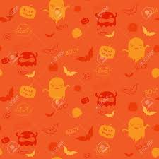 halloween seamless background halloween ghost bat pumpkin seamless pattern background royalty