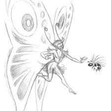 faerie sketch by leun on deviantart