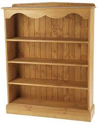 solid pine bookcase with fixed shelves 39 ins wide by 4ft tall