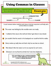 master the comma comma worksheets for 3rd graders education com