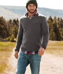 sweater with plaid collared shirt can be casual or dress it up