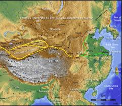 Map China Silk Road Pictures Guide And Maps China Bugbog