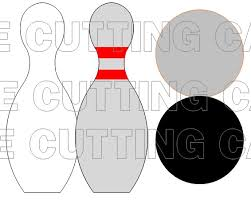 the cutting cafe u0027 it u0027s bowling time template printable stamp set