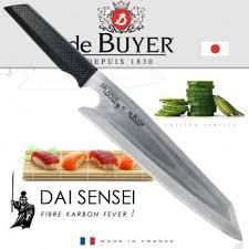 couteau japonais cuisine de buyer 4260 00 véritable couteau japonais dai sensei lame