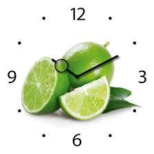 montre cuisine horloge montre murale carrée en verre cuisine citrons verts