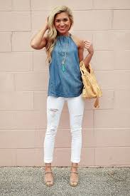 What To Wear With Light Jeans How To Wear White Denim This Summer U2013 Glam Radar