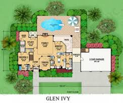 In Law Suite House Plans Glen Ivy Mediterranean Floor Plans Luxury House Plans