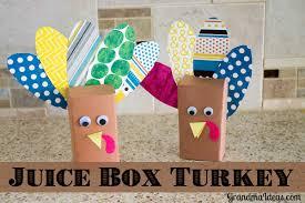 easy thanksgiving craft ideas juice box turkey grandma ideas