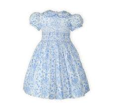blue toddler classic smocked easter dress