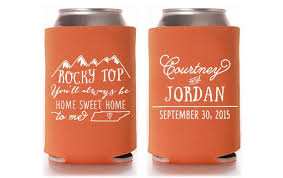 koozies for weddings mountain wedding koozies http emmalinebride rustic