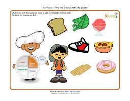 my plate activity for children grains food group make a