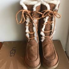 ugg boots womens tularosa chestnut lace up 82 ugg shoes ugg tularosa limited edition boots from