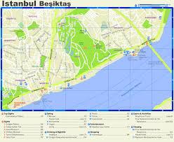Istanbul Turkey Map Beşiktaş Tourist Map