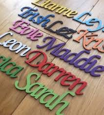 personalised wooden name plaques words letters wall door craft