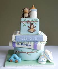 monkey themed cakes for a baby shower party xyz