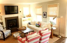 living fancy living room ideas with brick fireplace and tv