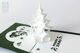 Tree Pop Up Papercut Template Pop Up Card Tree Instant