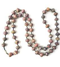 light purple necklace images Handmade glossy light purple necklace by afriartisan designs jpg