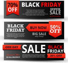adobe black friday sale black friday promotion sets with black and red free vector in