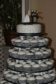 wedding cake and cupcake ideas black and white wedding cake and cupcake decorating ideas cup