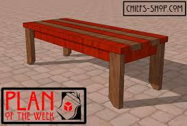 plan of the week 2 4 bench chief u0027s shop