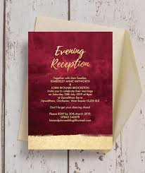 reception invitations burgundy gold evening reception invitation from 0 85 each