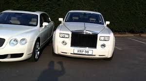 rolls royce white phantom white rolls royce phantom u0026 bentley spur by midlands limos youtube