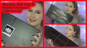 kat von d shade and light vault review kat von d studded obsessions collectors set youtube