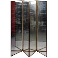 mirror room divider french mirror and brass paravent at 1stdibs